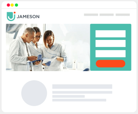 Jameson Dental Website Mockup Graphic