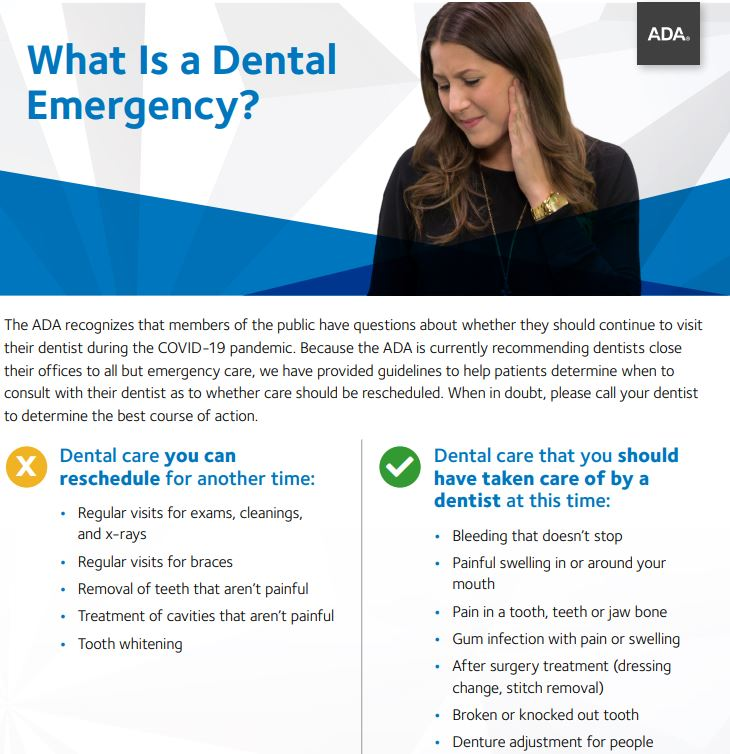 What is a Dental Emergency Flyer for Patients from ADA